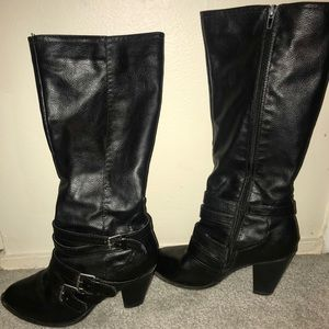 tall faux leather inside faux fur lined fits sz 8